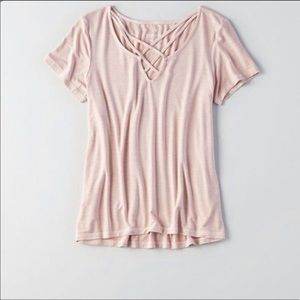 American Eagle Strappy V-neck Tee